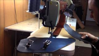 Making of Hard Leather Solo Bag by BAD&G CustomS