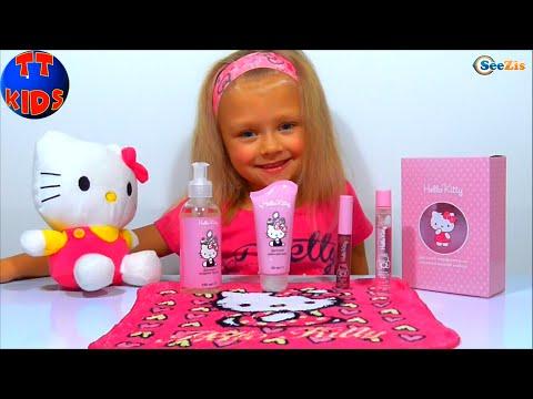 ✔ Игрушка Хелло Китти и Набор Косметики от девочки Ярославы. A cosmetics set for toys Hello Kitty ✔