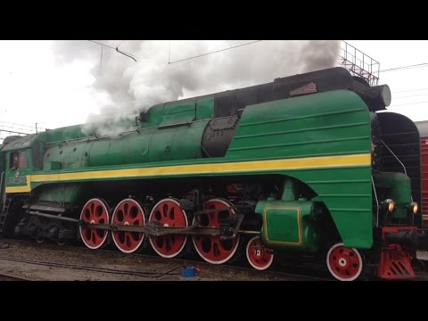 Паровозы П36-0120 и ЛВ-0283 на Владимир 7 ноября 2014