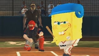 nicktoons MLB wii baseball raging and funny moments