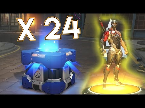 Öppnar 24 Uprising Loot Boxes!! - Overwatch På Svenska