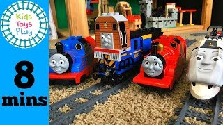 Thomas the Train | Duplo and Lego Train Crashes Galore | Thomas and Friends James Percy Toby