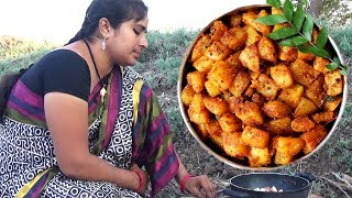 Village Foods – South Indian Cooking Aloo Fry Recipe – Village Style Potato Chips Fry Recipe