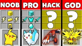 Minecraft Battle: NOOB vs PRO vs HACKER vs GOD: POKEMON PET OF GOD Challenge in Minecraft Animation