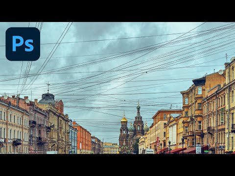 Remove IMPOSSIBLE Power Lines FAST with Photoshop!