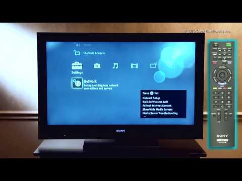 Como Conectar su Televisor Sony® con WiFi Integrado a Una Red Inalámbrica