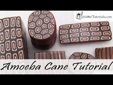 Polymer Clay Amoeba Cane Tutorial