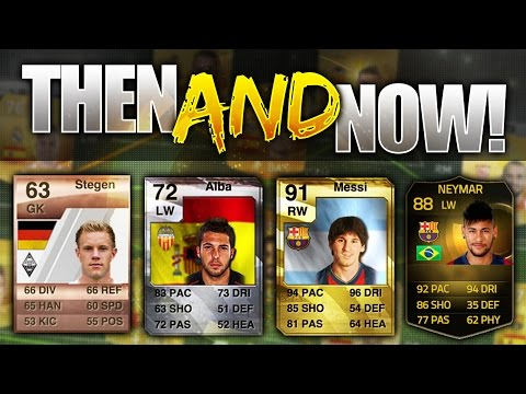 FIFA 15 THEN AND NOW!!! - SHOCKING BARCELONA PLAYERS OLDEST AND MOST INTERESTING CARDS