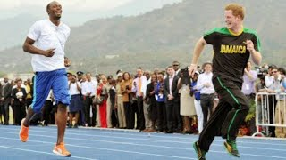 Usain Bolt Challenged by Prince Harry on the Track