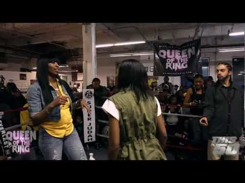 "BABS BUNNY & VAGUE: ""QUEEN OF THE RING""  MS HUSTLE vs QB BLACK DIAMOND 