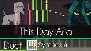 This Day Aria - |DUET PIANO TUTORIAL w/LYRICS| -- Synthesia HD