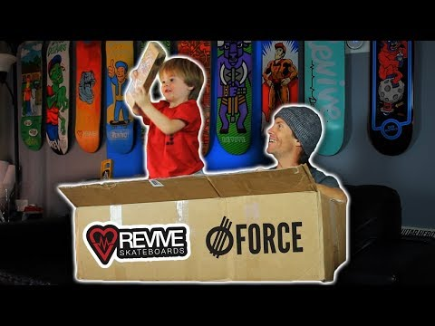Massive Revive Skateboards/Force Wheels Unboxing - Father & Son