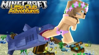 LITTLE KELLY ATTACKED BY SHARKS!!! - Minecraft Little Club Adventures