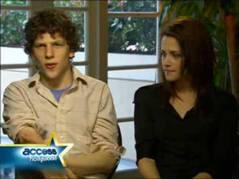 Kristen Stewart and Jesse Eisenberg Access Hollywood