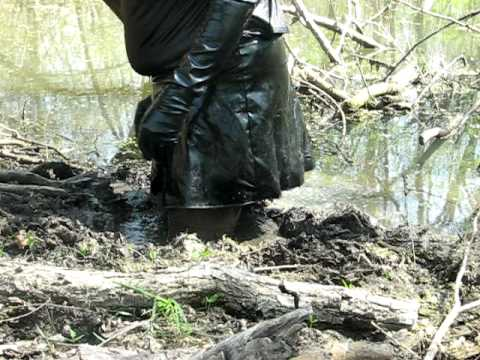 Muddy bottom of a stream