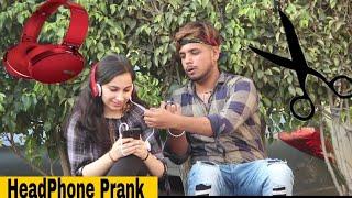 Tapori Cutting Original Iphone Peoples Headphone prank  Taking Peoples Air Pods prank(Gone wrong  