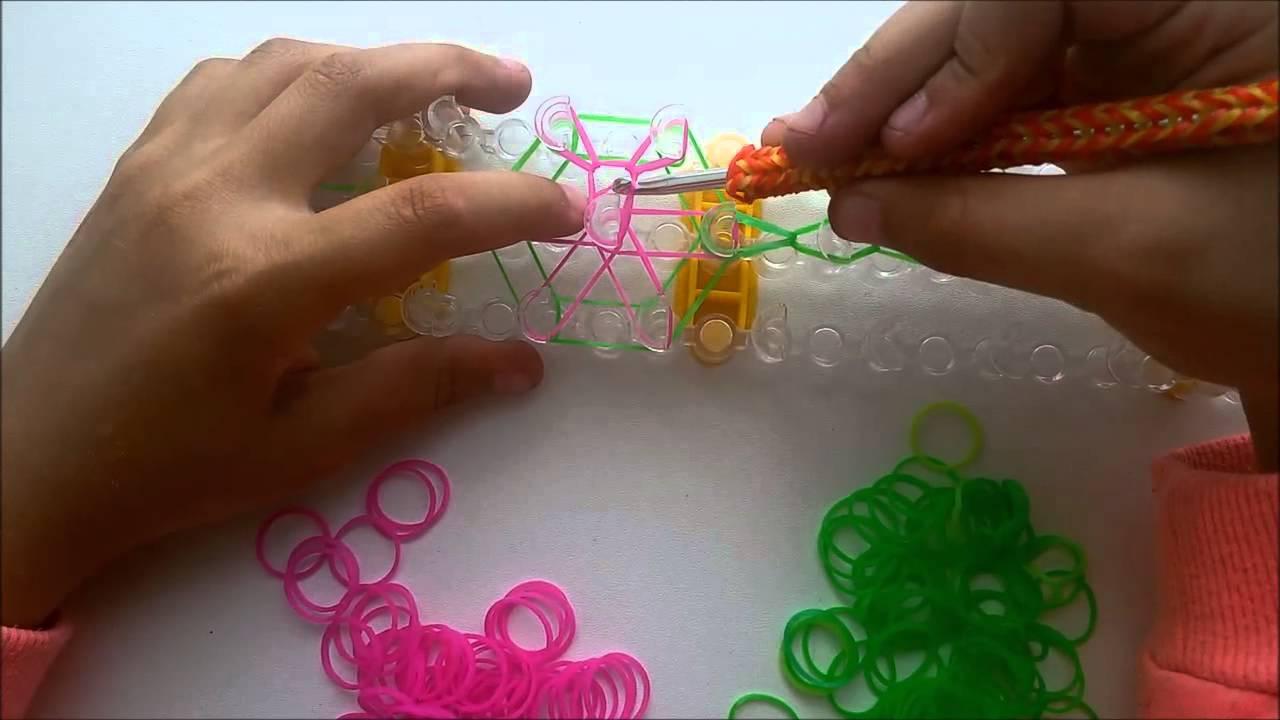 Вязание на резинках на станке 21