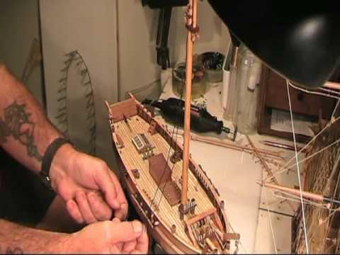 Wood model ship building techniques