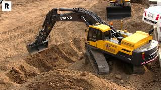 AWESOME VOLVO RC EXCAVATOR WORKING AT THE CONSTRUCTION SITE