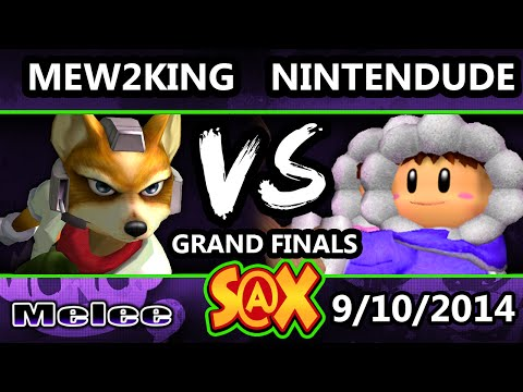 S@X - Apex | Nintendude (Peach) Vs. P4K EMP | Mew2King (Green) SSBM Grand Finals - Melee