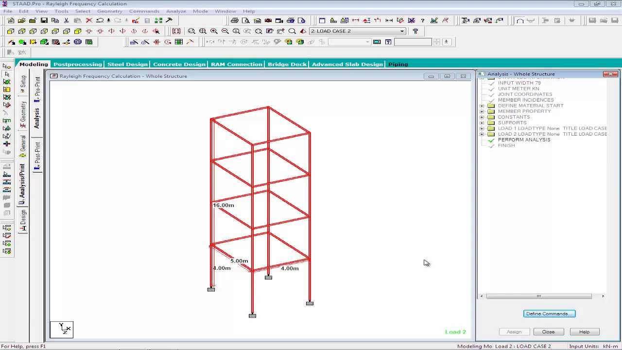 Calculating Fundamental Frequency Of Structures In Staad