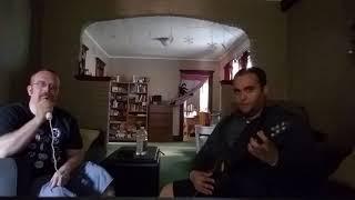 Brandon and Tim Rocking out playing Guitar Hero Warriors of Rock