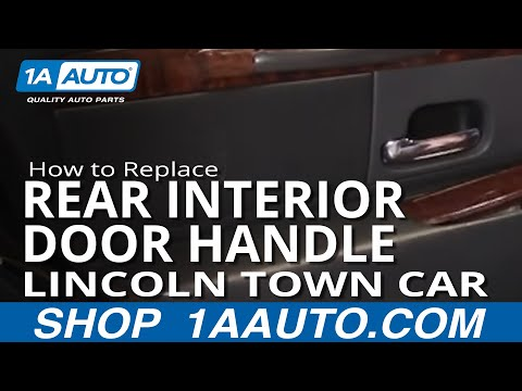How To Install Replace REAR Inside Door handle Lincoln Town Car 98-02 1AAuto.com