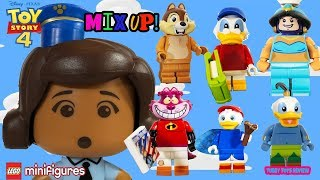 Toy Story 4 Giggle McDimples Disney LEGO Minifigure Body Head Switch Up Mini Brands Tubey Toys