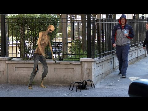 Big Spider Attack In The City Prank - 4K (Reality Pranks 4k)