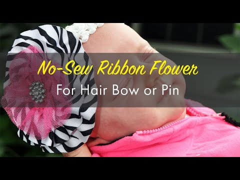 Make A Flower Pin With Ribbon