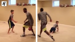 KYRIE IRVING BREAKS MIKE MILLER'S SONS ANKLES!