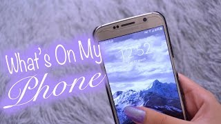 WHAT'S ON MY PHONE!? 2017 | Nicole