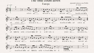 THE FINAL COUNTDOWN: (flauta, violín, oboe...) (partitura con playback)