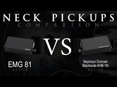 EMG 81 vs BLACKOUTS - Active NECK Pickup Guitar Tone Comparison / Review