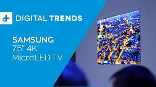Samsung 75 Inch 4K MicroLED TV - Hands On at CES 2019