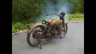 Starting Rusty 1924 Harley Motorcycle After Years