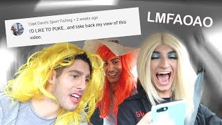 DRAGGING HOMOPHOBIC COMMENTS IN DRAG 💅👩(ft. The Zakar Twins)