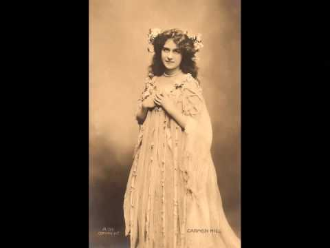 British Contralto Carmen Hill ~ The Green Hills o' Somerset (1913)