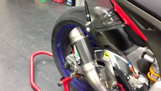 AustinRacing GP2R Carbon Can INCONEL Full System For Aprilia RSV4 Factory