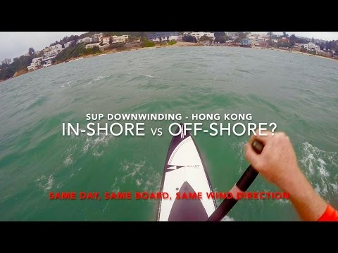 SUP Downwinding - In-shore vs Off-shore conditions on same day