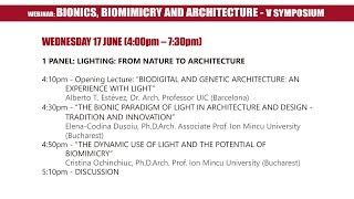 V Symposium Bionics, Biomimicry and Architecture  - Panel 1