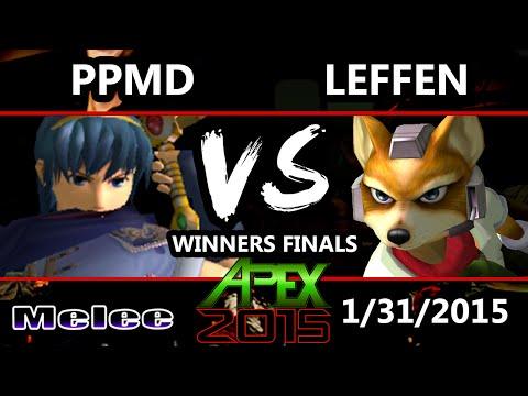 Apex 2015 - Leffen (Fox) Vs. EG   PPMD (Marth) SSBM Winners Finals - Smash Melee