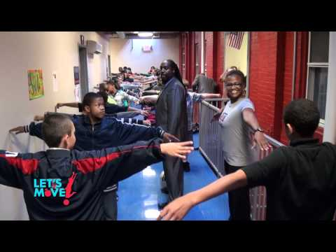 """Let's Move"" at New Hope Academy Charter School - 05/18/2012"