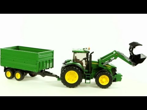 download lagu John Deere 7930 Tractor And Tandem Axle Tipping Trailer Bruder 03055 - Muffin Songs` Toy Review gratis