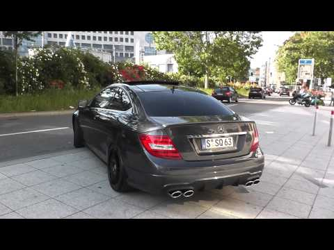 Mercedes C63 AMG Powerslide+full throttle !!!
