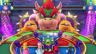 Mario Party 10 Bowser Party #14 Peach, Rosalina, Mario, Luigi Chaos Castle Master Difficulty