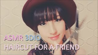 한국어ASMR. 머리 잘라주는 친구♡Haircut for a Friend♡ w/Up Close Whispering/Combing/Ear Brushing(Binaural)