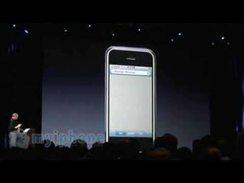 Steve Jobs demo Google Maps on iPhone