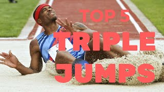 TOP 10 Triple Jumps Of All Time | Triple Jump World Records