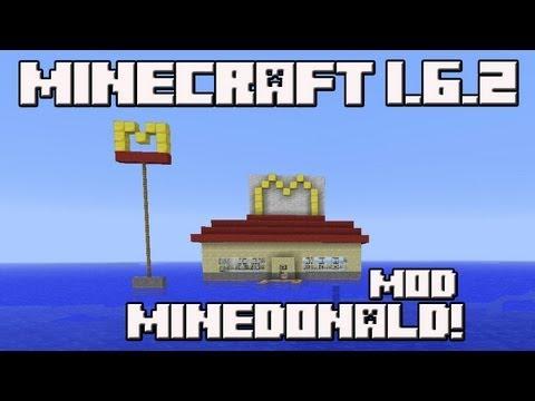 Minecraft 1.6.2 MOD MINEDONALD